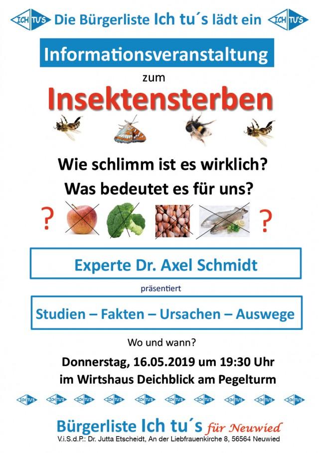 Vortrag zu Insektensterben @ Wirtshaus Deichblick am Pegelturm Neuwied